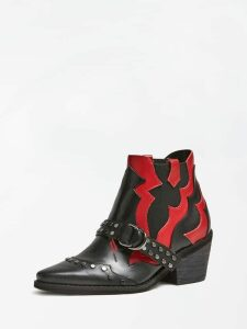 Guess Narri Real Leather Low Boots