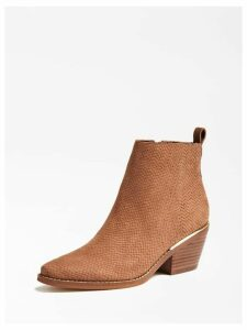 Guess Nisha Real Leather Low Boots