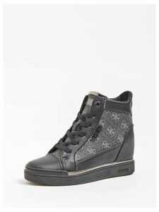 Guess Fabia Wedge Sneakers With Logo