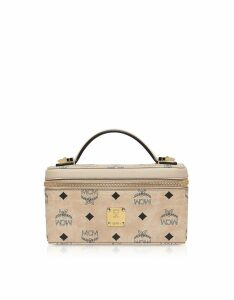 Mcm Visetos Original Rockstar Vanity Case Crossbody Bag