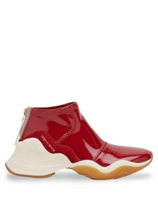 Fendi high-top glossy effect trainers - Red