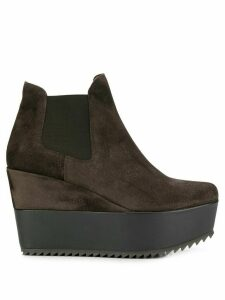 Pedro Garcia wedged ankle boots - Brown
