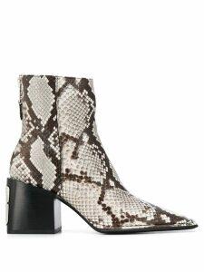 Alexander Wang animal print ankle boots - Neutrals