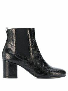 Via Roma 15 snakeskin effect ankle boots - Black