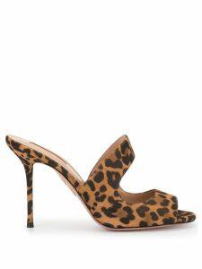 Aquazzura leopard print sandals - Brown