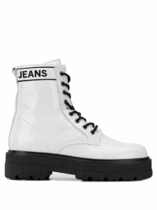 Tommy Jeans leather ankle boots - White