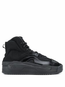 Y-3 ankle lace-up sneakers - Black