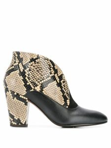 Chie Mihara Elgi snakeskin boots - Neutrals