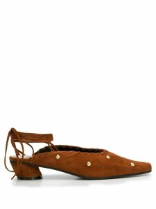 Reike Nen lace up mules - Brown