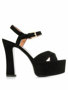 Pollini platform heel sandals - Black