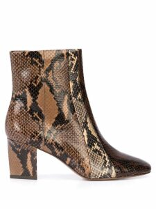 Veronica Beard snakeskin effect ankle boots - Brown