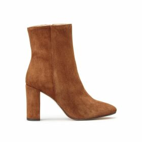 Vraca High Heeled Leather Ankle Boots