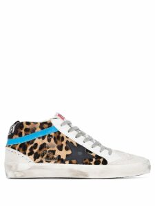 Golden Goose Mid Star leopard print sneakers - Brown