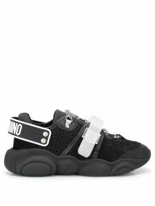 Moschino logo strap sneakers - Black