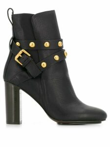 See By Chloé stud-embellished ankle boots - Black