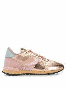 Valentino Valentino Garavani Rockstud camouflage sneakers - Pink