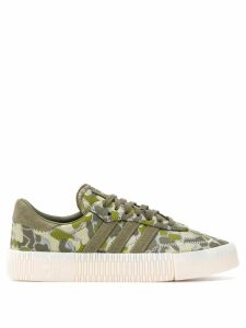 adidas camouflage print sneakers - Green