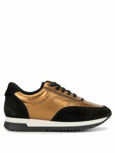 Paule Ka metallic leather sneakers - Gold