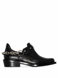 Paco Rabanne chain-trimmed ankle boots - Black
