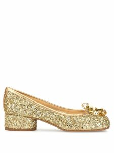 Maison Margiela Tabi glittered ballerinas - GOLD