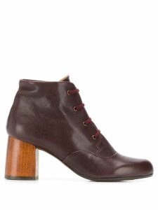 Chie Mihara Mili lace-up ankle boots - Red