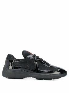 Prada mesh panelled sneakers - Black