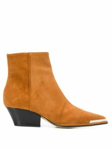 Sergio Rossi Carla Cowboy style ankle boots - NEUTRALS