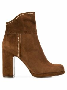 L'Autre Chose high heeled ankle boots - Brown