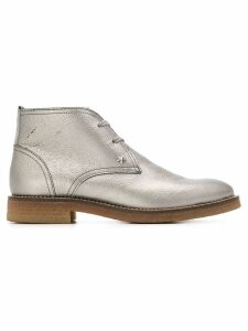 Tommy Hilfiger metallic ankle boots
