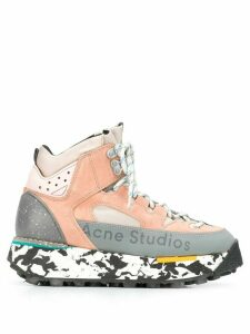 Acne Studios 90s inspired outdoor hi-top sneakers - PINK