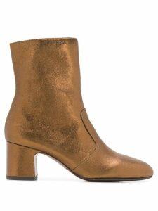 Chie Mihara Nanaylon metallic ankle boots - Brown