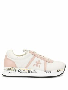 Premiata low top print sneakers - PINK