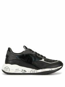 Premiata printed low top sneakers - Black