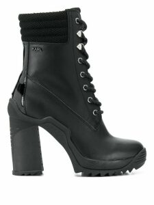 Karl Lagerfeld voyage lace-up boots - Black
