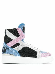 Philipp Plein crystal-embellished high-top sneakers - Black