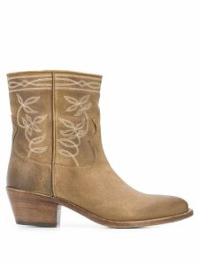 Sartore western embroidered boots - Neutrals