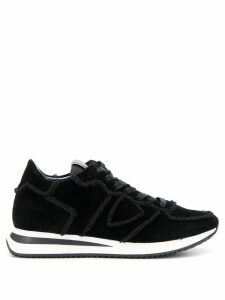 Philippe Model seam-detail velour trainers - Black