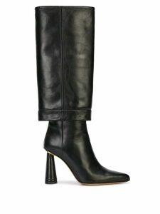 Jacquemus block heel pointed boots - Black