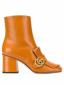Gucci Marmont 70 ankle boots - Brown