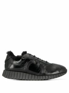 Salvatore Ferragamo Gancini lace-up sneakers - Black