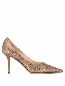 Jimmy Choo glitter embellished pumps - GOLD