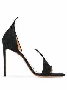 Francesco Russo open toe pumps - Black