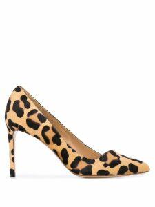 Francesco Russo leopard print pumps - Neutrals