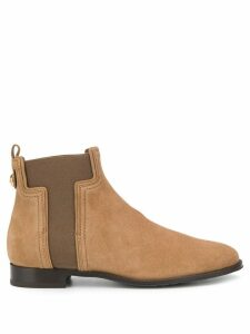 Tod's T-shaped panel suede ankle boots - Neutrals