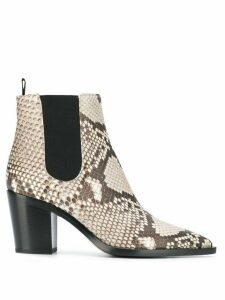 Gianvito Rossi snakeskin ankle boots - Neutrals