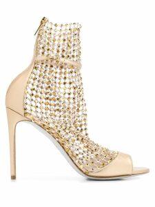 René Caovilla Galaxia stiletto sandals - GOLD