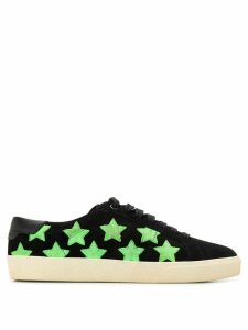 Saint Laurent star patch sneakers - Black