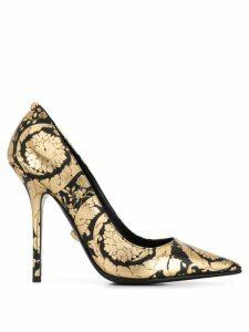 Versace printed pumps - Gold