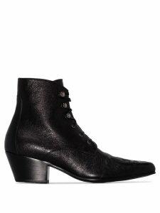 Saint Laurent Susan lace-up ankle boot - Black