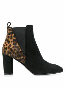 Albano animal print panel boots - Black